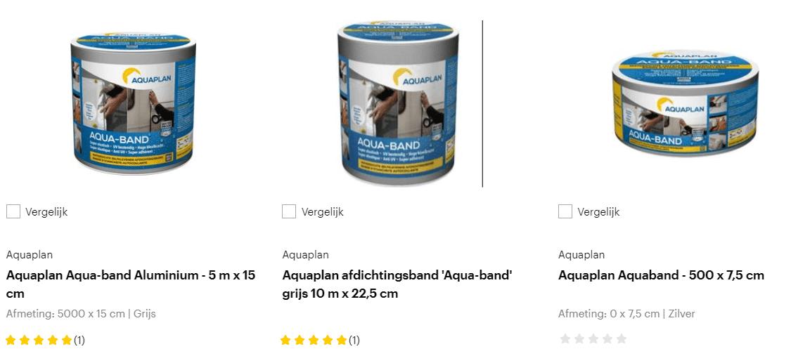 AquaBand-producten